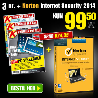Komputer for alle + Norton Internet Security med Norton AntiVirus gratis
