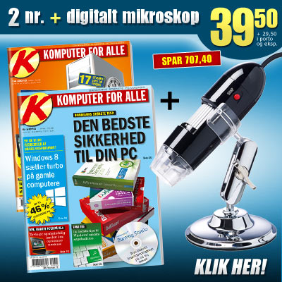 Komputer for alle + et digitalt USB-mikroskop